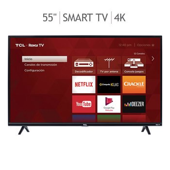 "TCL pantalla 55"" LED Roku TV UHD 4K 60Hz"