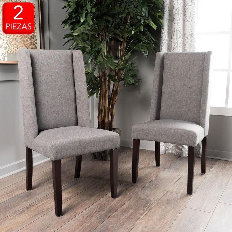 Noble House, Granada, silla para comedor, 2 piezas, gris | Costco México