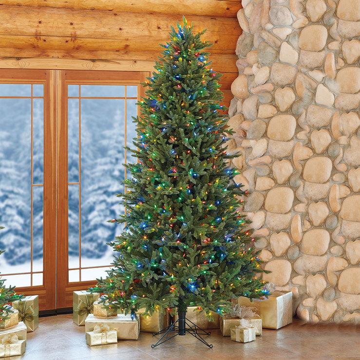 Rbol de navidad artificial con luces led de color dual 2 - Arbol artificial de navidad ...