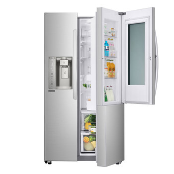 Refrigerador LG  Instaview Door-in-Door Linear Inverter con Smart ThinQ WiFi 26 pies cúbicos - Acero - GS73SXS