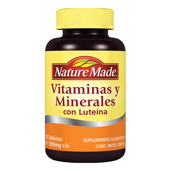 Nature Made Vitaminas y Minerales con Luteína 150 tabletas