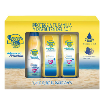 Banana Boat Advanced Protection, protectores solares (2 lociones FPS 50 de 180 ml c/u + 1 spray FPS 50 de 220 ml)