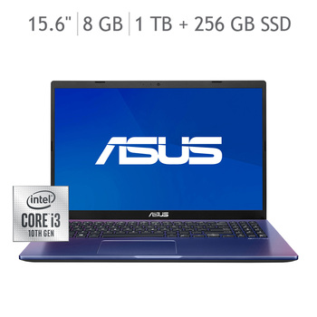 "Asus VivoBook Laptop 15.6"" Intel Core i3-1005G1 8GB 1TB+256GB SSD"