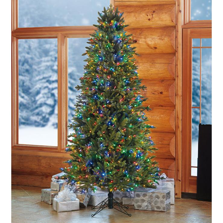 Rbol de navidad artificial de 2 2 metros con 660 luces led multicolor dise o delgado costco - Luces arbol de navidad ...