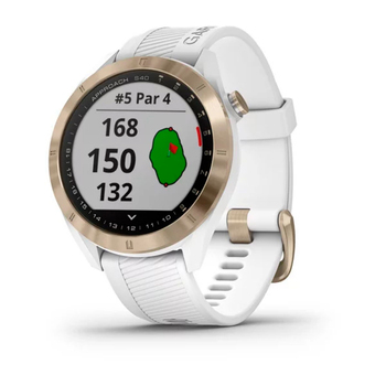 Garmin Reloj Inteligente para Golf Approach S40 -Blanco/Dorado