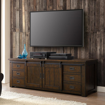 Bayside Furnishings, consola para TV, madera