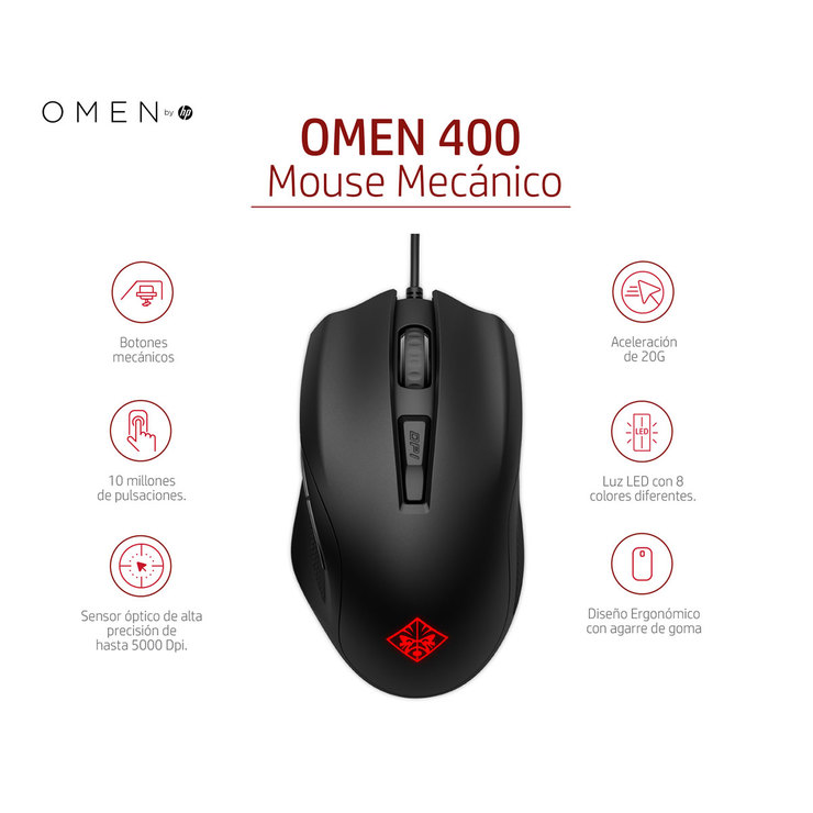 HP Omen gaming mouse 400   Costco Mexico