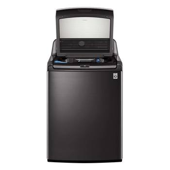 Lavadora carga superior LG de 25Kg con True Steam, color negro