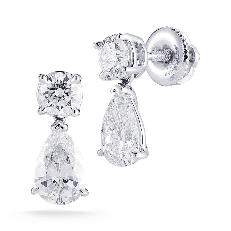 San Francisco 0e511 3f069 2.00ctw, Aretes de Diamantes, Forma de Pera, Oro Blanco de 18kt | Costco  México