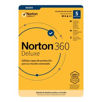 Norton Antivirus 360 Deluxe para 5 dispositivos