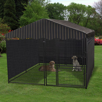 LUCKY DOG KENNEL W/COVER 10'X10'X6'