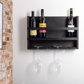 The Rustic Home, Estante de Madera para Vinos