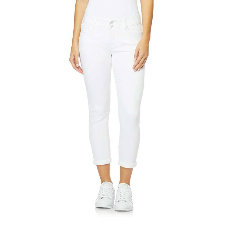 Kensie Pantalon De Mezclilla Con Dobladillo Para Dama Blanco Costco Mexico