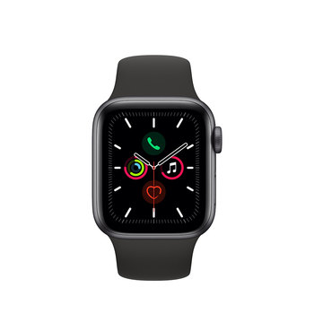 Apple Watch Series 5 Caja de Aluminio de 40mm de color Gris Espacial con Correa de color Negro