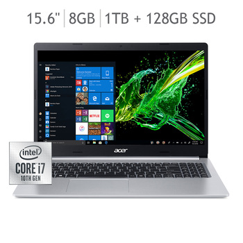 "Acer Aspire 5 Laptop 15.6""  CI7 10510 RAM 8GB 128GB+1TB"