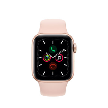 Apple Watch Series 5 Caja de Aluminio 40mm de Color Oro con Correa de Color Rosa