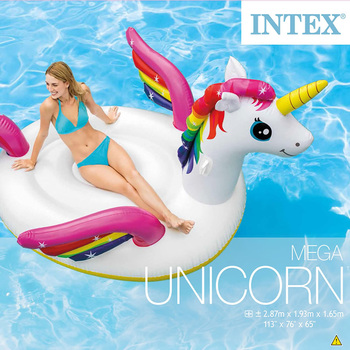 Inflable Acuático mega montable de unicornio, Intex