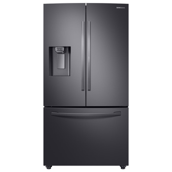 Refrigerador Samsung de 28' French Door con metal cooling, color acero inoxidable negro