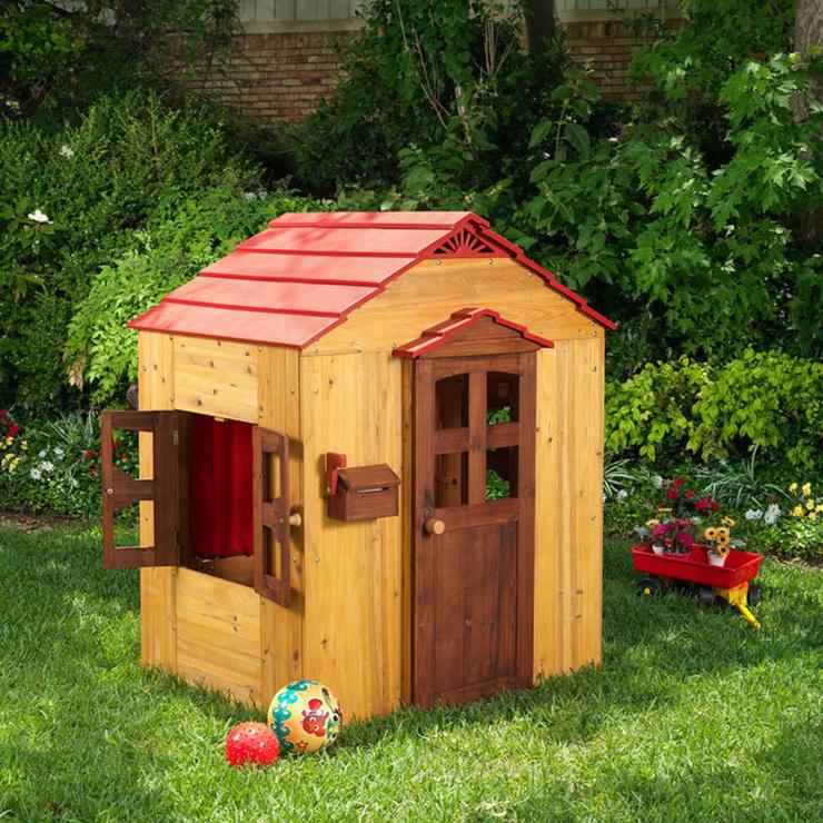 Kidkraft casa de madera para exteriores costco mexico for Casas madera ninos jardin