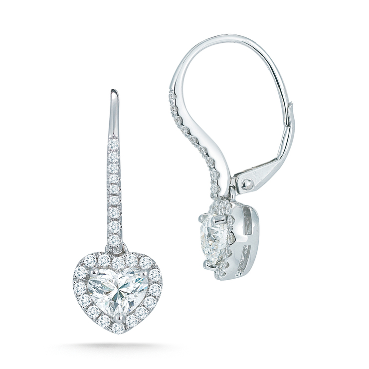 primer nivel 49837 3e15b 1.70ctw, Aretes de Diamantes, Forma de Corazón, Oro Blanco 14kt | Costco  México