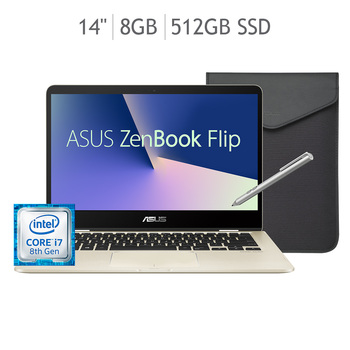 "Asus ZenBook Flip Laptop 14"" CORE I7"