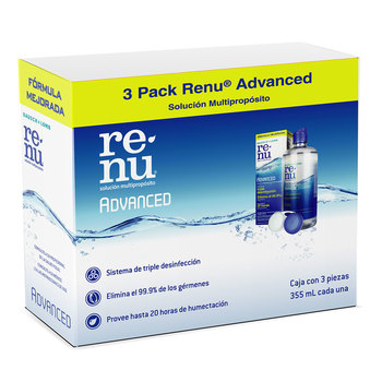 Renu Advanced 3PK 355ml Baush & Lomb