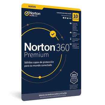 Norton Antivirus 360 Premium para 10 Dispositivos