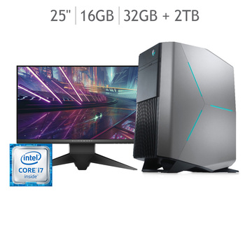 Dell Desktop Alienware Aurora Intel® Core™ i7 8700 + monitor 25""
