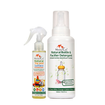 Mommy Care detergente de mamilas 500 ml y desinfectante de juguetes 150ml