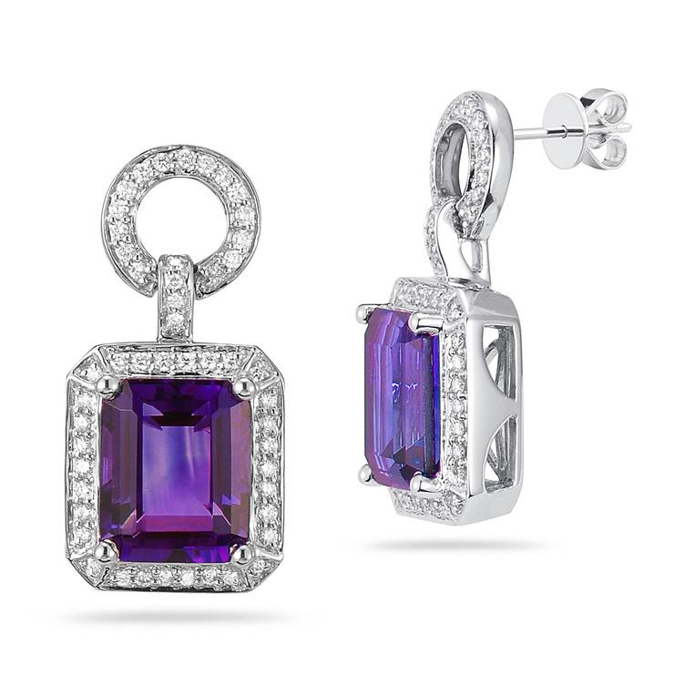 37aa1840bc36 Aretes de Amatista y Diamantes