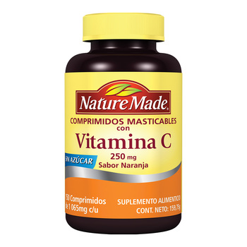 Nature Made vitamina C masticable 150 tabletas