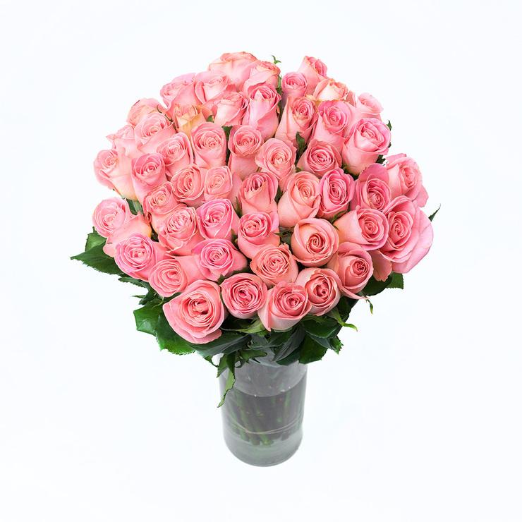 Bouquet De 48 Rosas Color Rosa Costco Mexico