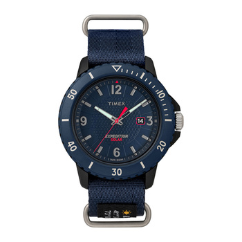 Timex, Reloj para caballero, Expedition Solar TW4B14300, Color Azul Marino