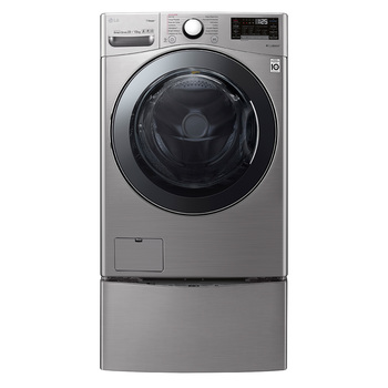 Lavasecadora LG de 22 / 13Kg + twin wash mini, color gris