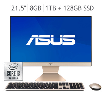 "Asus All in One 21.5"" Intel® Core™ i3 8GB RAM 1TB + 128GB SSD"