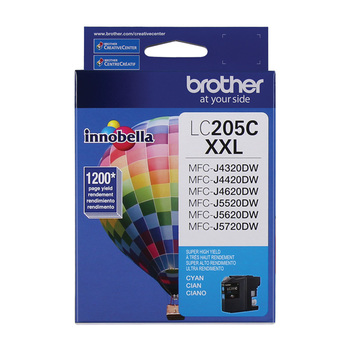 Brother cartucho tinta 205C XXL super alto rendimiento cian