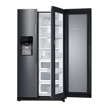 Refrigerador Samsung de 25' Dúplex Food Showcase, Color Acero Inoxidable Negro