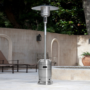 Calentador de Gas para Patio, Acero Inoxidable, Well Traveled