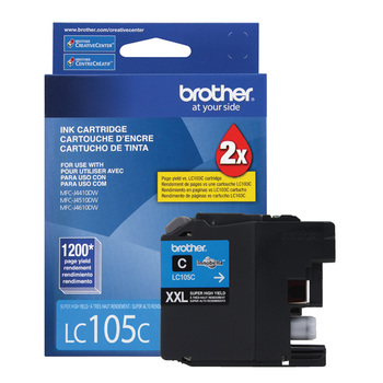 Brother cartucho de tinta 105 XXL super alto rendimiento cian