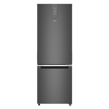 Refrigerador Whirlpool de 13' bottom mount, acero inoxidable negro