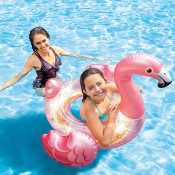 Inflable Acuático Salvavidas de Flamingo, Intex