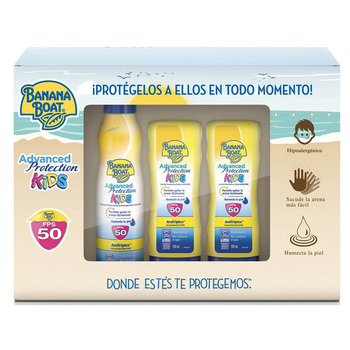 Banana Boat Advanced Protection Kids, protectores solares (2 lociones FPS 50 de 180 ml c/u + 1 spray FPS 50 de 220 ml)