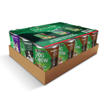 Dog Chow, alimento húmedo enlatado mix pack 12 de 374 g