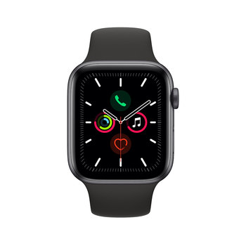 Apple Watch Series 5 Caja de Aluminio de 44mm de Color Gris Espacial con Correa de Color Negro
