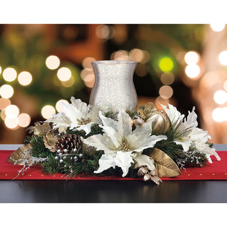 Centro de mesa navide o con portavela costco m xico - Centro de mesa navideno ...