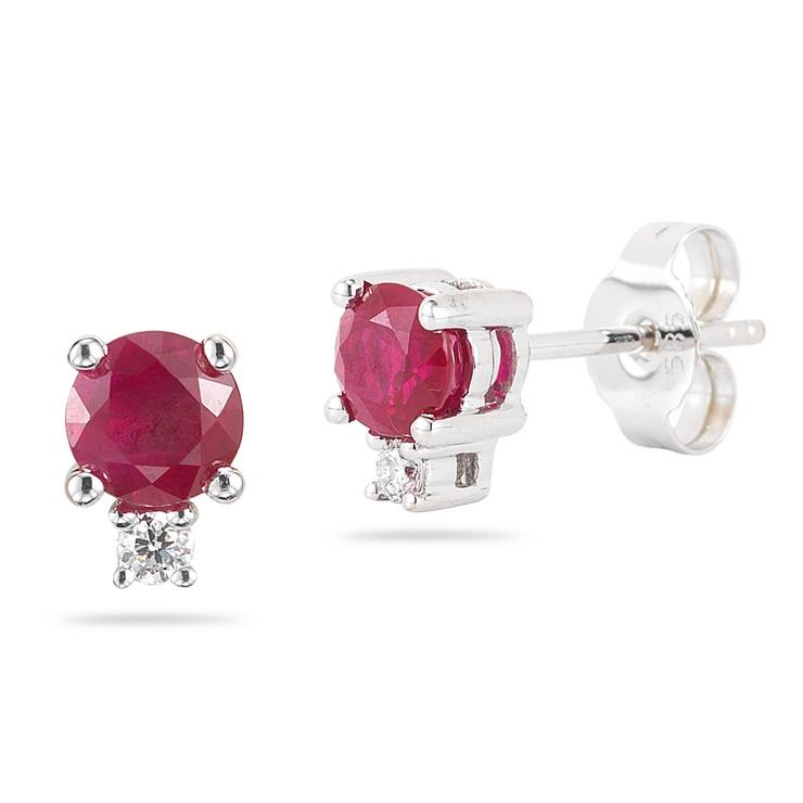 855115a11df8 Aretes de Rubí y Diamantes