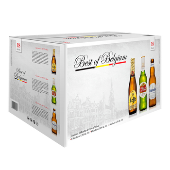 Best of Belgium cerveza 18 botellas de 330ml
