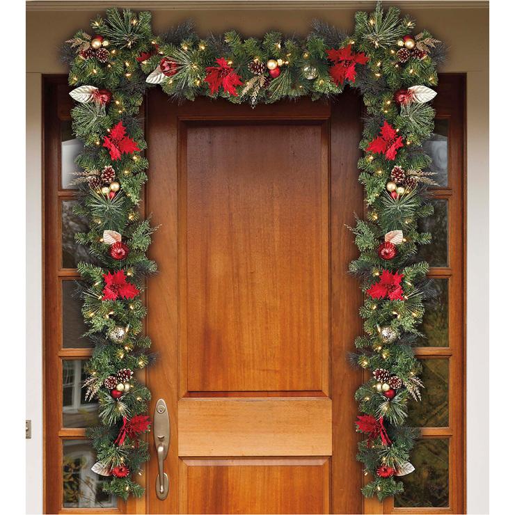 Cg hunter guirnalda navide a pre ilumindada con 90 luces led costco mexico - Arreglo de puertas de madera ...
