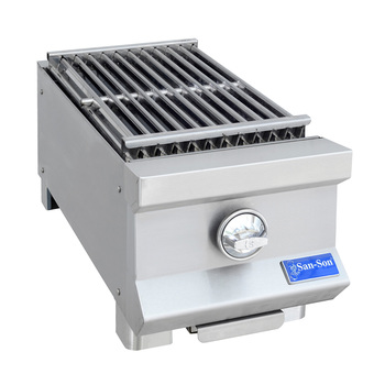 "Asador radiante San Son 12"", acero inoxidable"