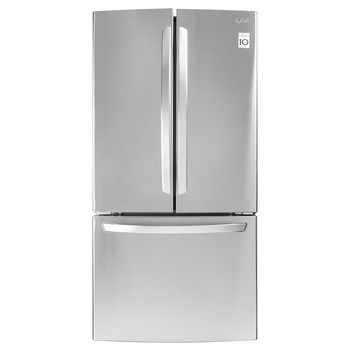 Refrigerador LG French Door de 24´ con congelador inferior, color acero inoxidable